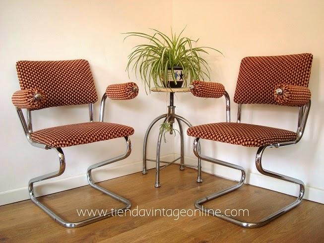 sillas retro comprar online terciopelo rojo