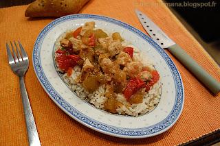 Индейка, тушёная с кабачком и помидорами