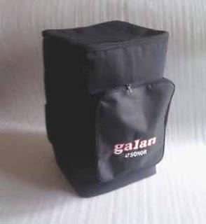 soft case drum akustik dengan logo dan nama