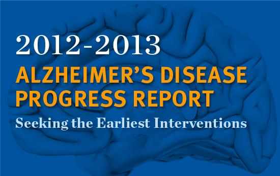 Alzheimer's Disease Progress Report