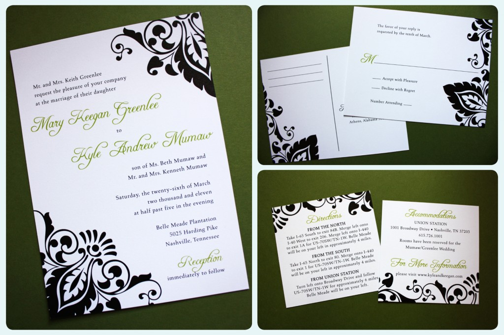 Damask+wedding+invitations X