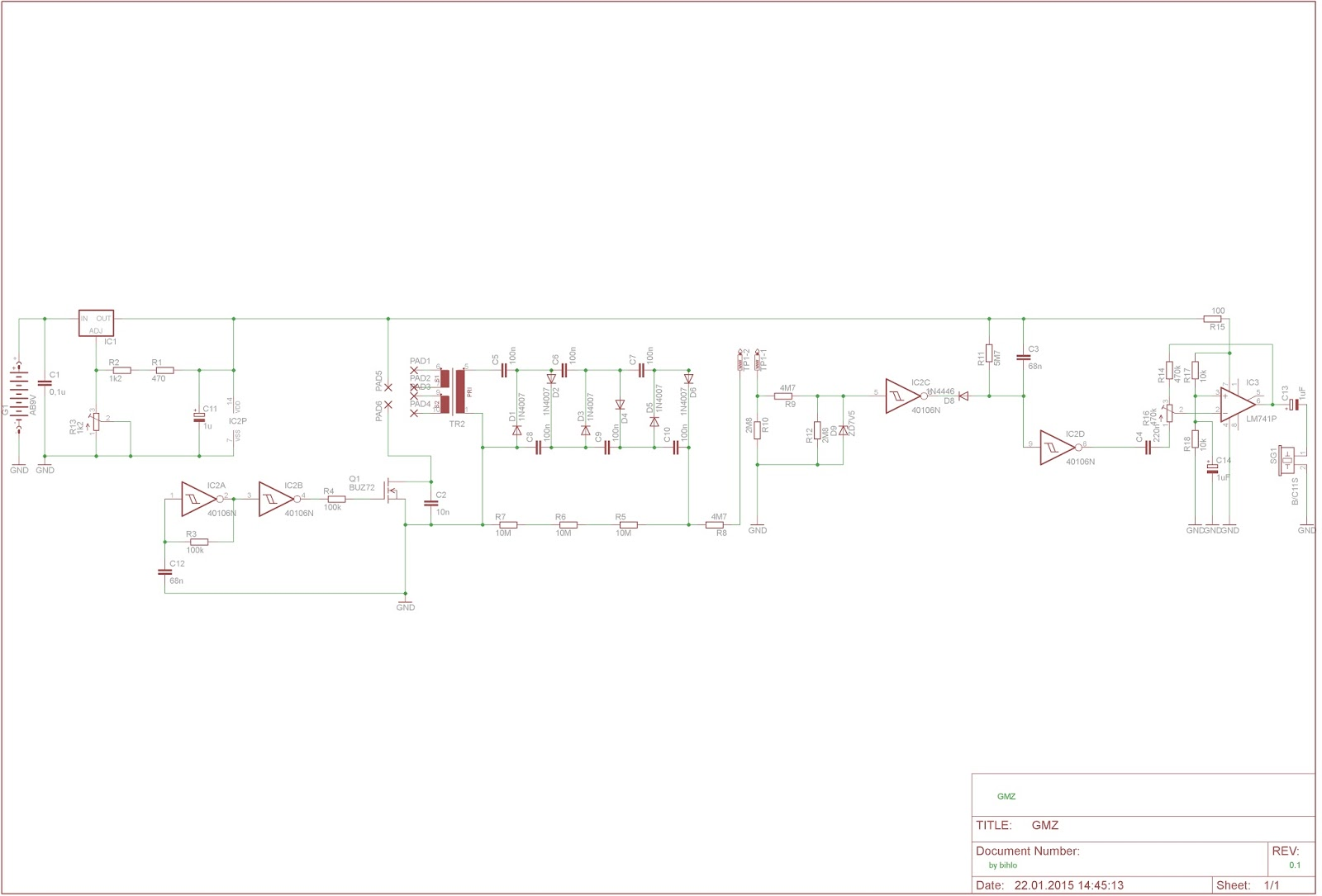 Bihlo Ingmars Vintage Blog Amplifier Classes From A To H Circuit Cellar Wiring Diagram With High Voltage Supply And Pulse