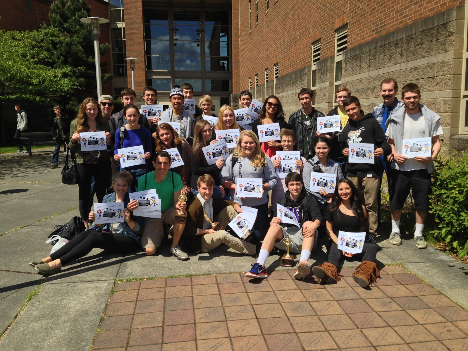 students from the ballard high school video production program won 15 ...