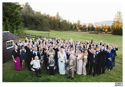 Abbey and Adam and their guests - Patricia Stimac Seattle Wedding Officiant