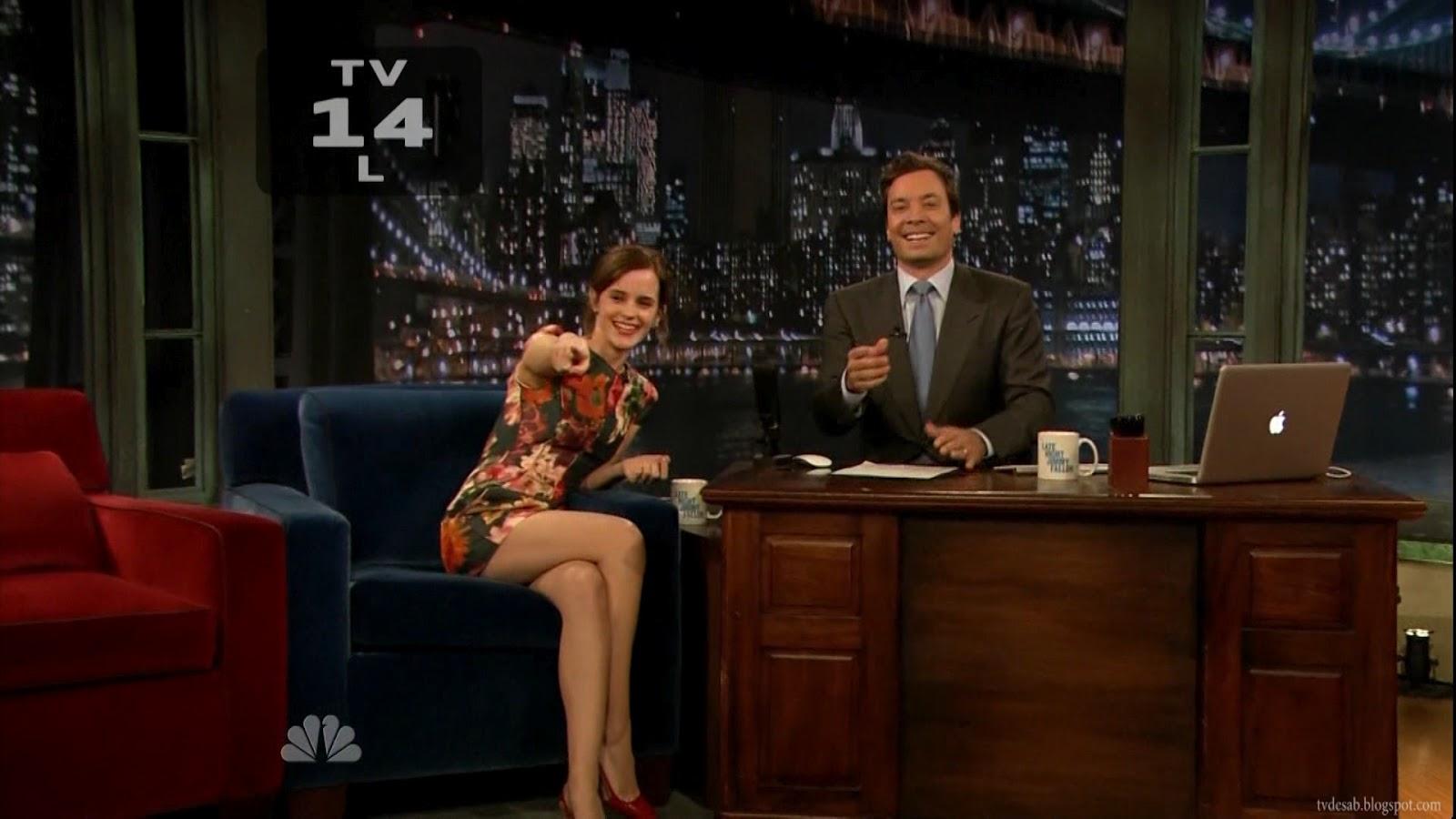 Emma Watson upskirt auf Letterman
