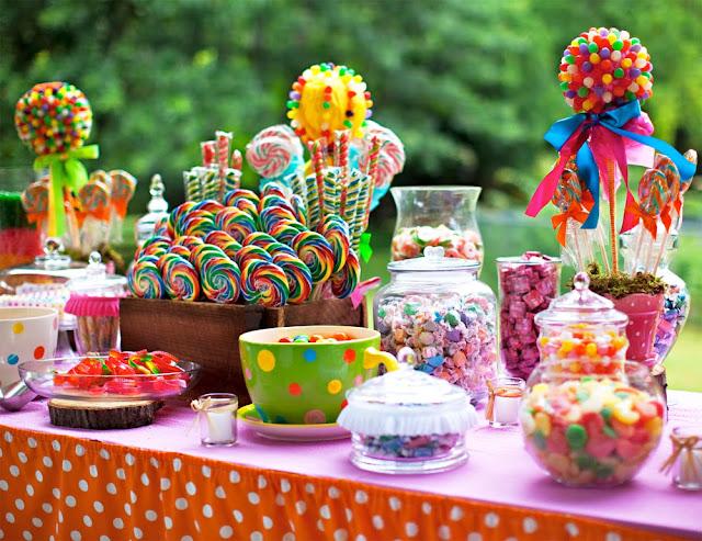 candy bar para boda charra
