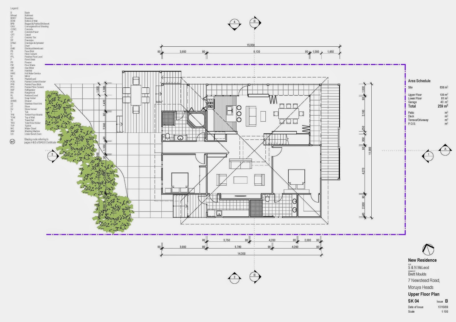 Architectural Site Plan Drawing