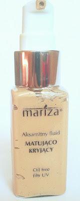 Aksamitny fluid matująco - kryjący - Mariza, odcień 12 Jasny Beż