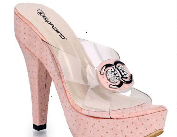 Sepatu: High heel Pink Chanel (SDG-471)