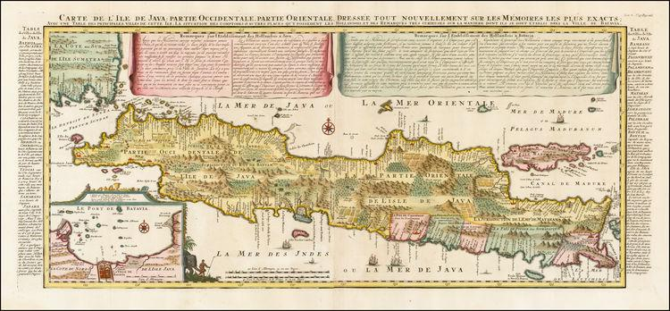 Map of the island of Java