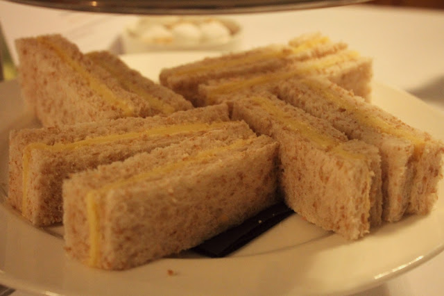 afternoon tea cheese sandwiches