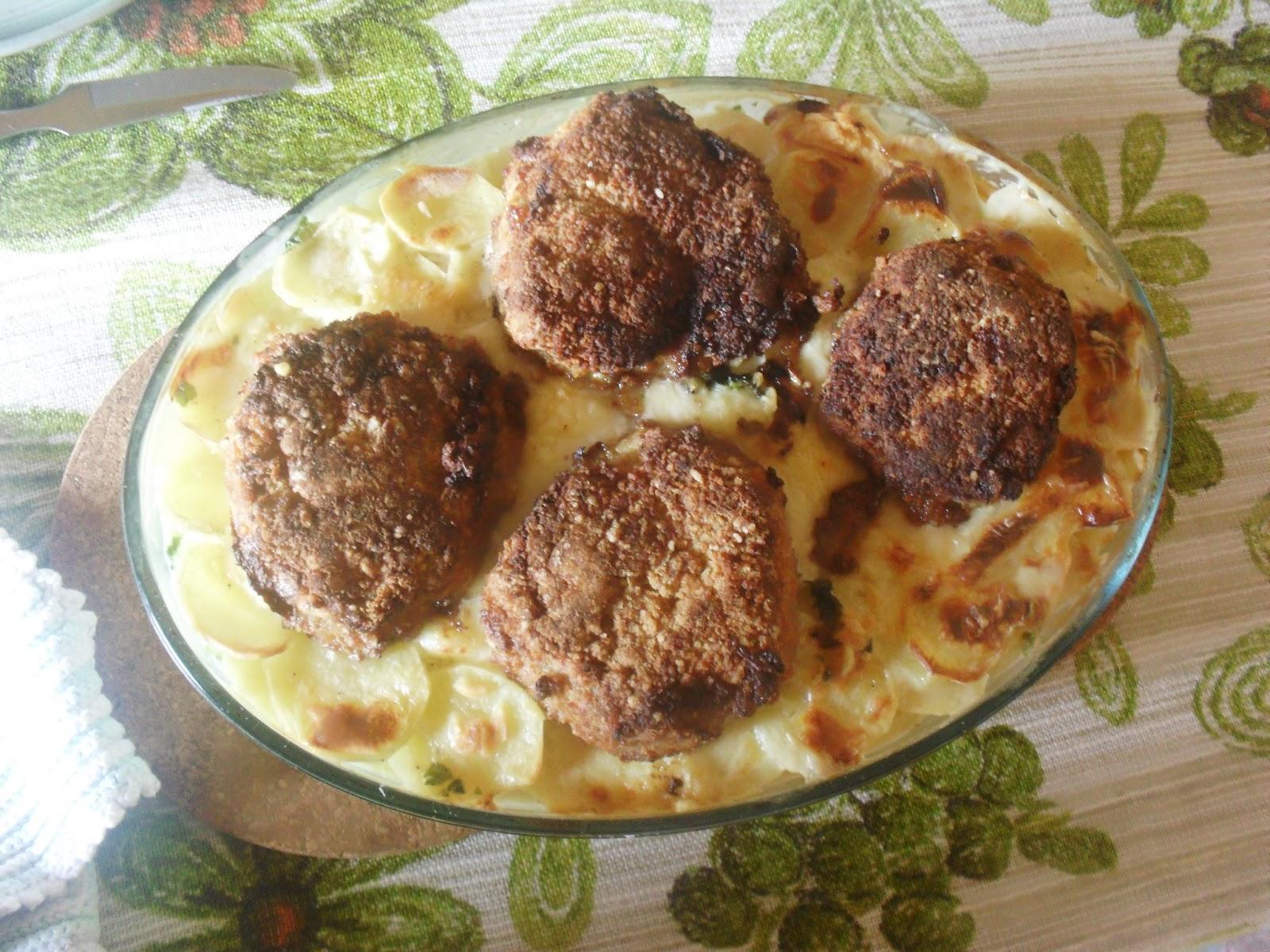 flødekartofler kød