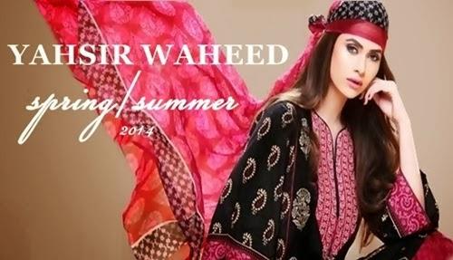 Yahsir Waheed Summer/Spring Lawn Prints 2014