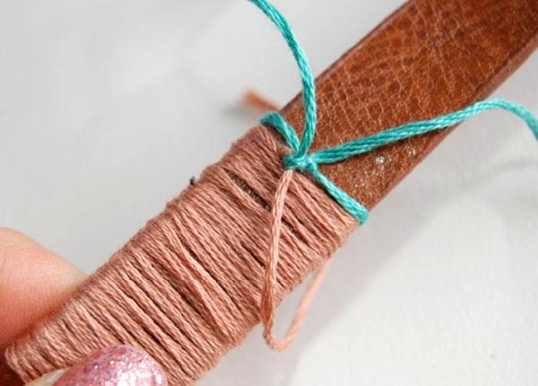 DIY: Cinto decorado com linhas coloridas - PASSO-A-PASSO - APRENDA A FAZER - TUTORIAL - FAÇA VOCÊ MESMO