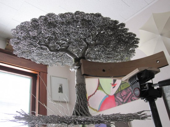 Aluminum Wire Tree Sculpture