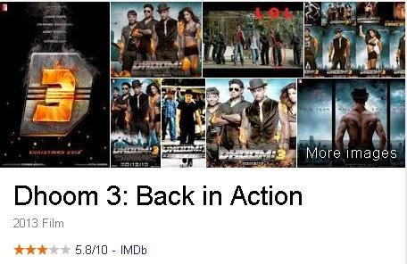 Dhoom 3 - Film India (Bollywood) Terbaik Dan Terpopuler Sepanjang Masa