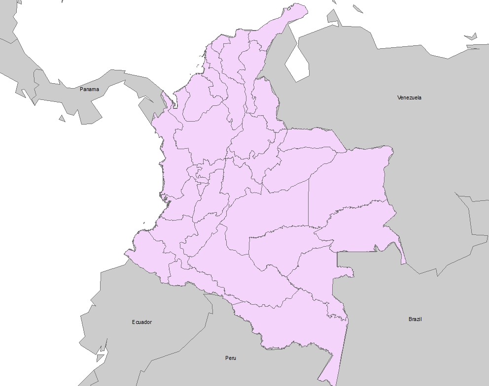 maps of colombia. Above is a map of Colombia