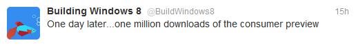 Dalam sehari, Windows 8 Consumer Preview Diunduh 1 Juta Kali