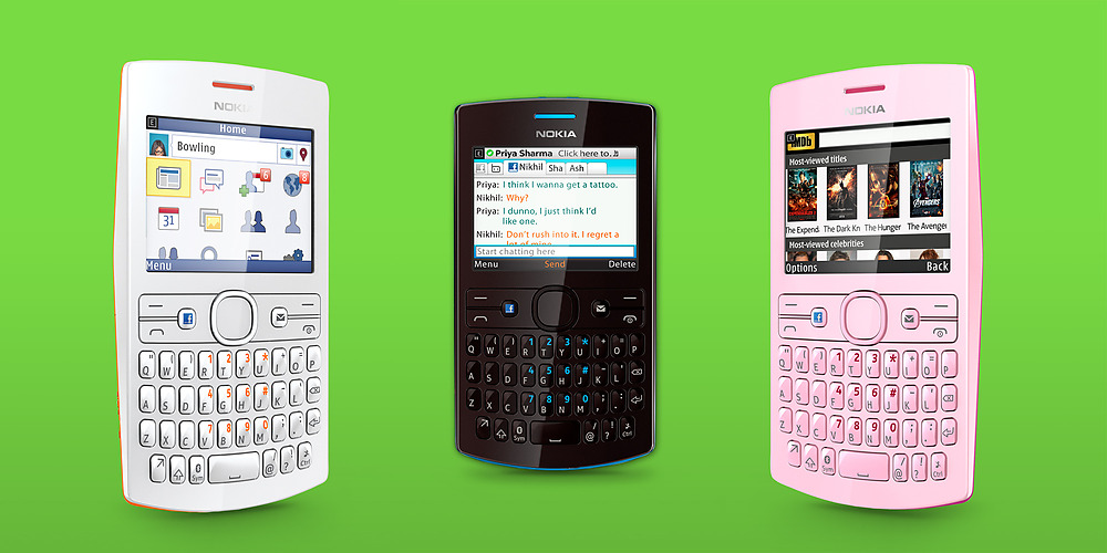 ... Untuk pilihan warna, Nokia memberikan 4 pilihan warna untuk Nokia Asha