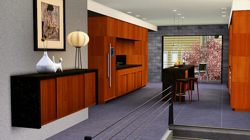 My sims 3 blog awesims modern designer kitchen for the sims 3 for Sims 3 interior design kitchen