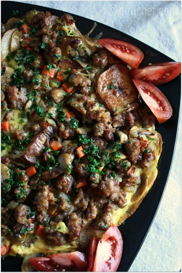 Italian Sausage & Potato Frittata - All Roads Lead to the Kitchen