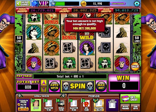 First actual screen of The Phantom Hit It Rich! Casino Slots game