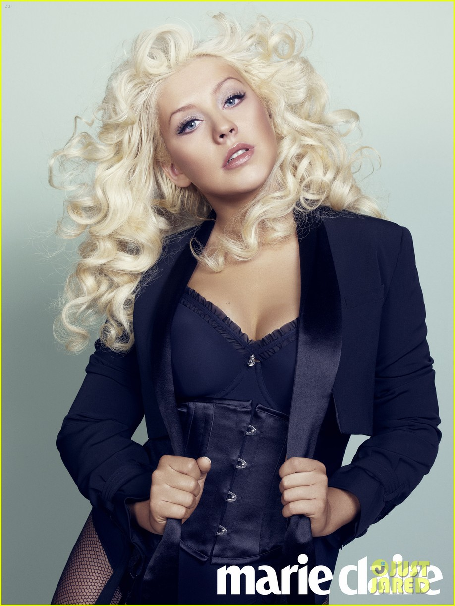 Christina Aguilera: covers Marie claire