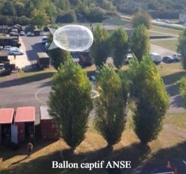 Ballon captif comme relais com