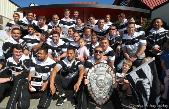Parade in Hastings for the Hawke's Bay Magpies rugby team, followed by a mayoral reception, civic reception at Civic Sqaure. Winners of the Ranfurly Shield, after beating Otago 20-19 in Dunedin on Sunday photograph