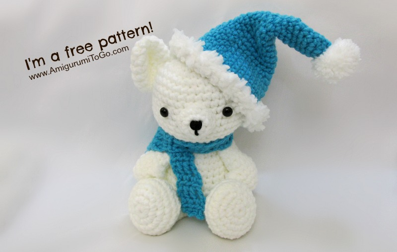 All Free Amigurumi Patterns : Christmas Bears Hat and Scarf Pattern ~ Amigurumi To Go