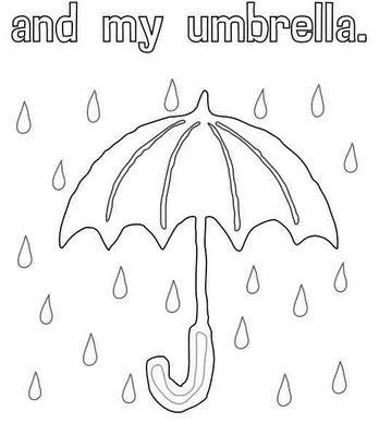 COLOREA TUS DIBUJOS: Dibujo de paraguas para colorear
