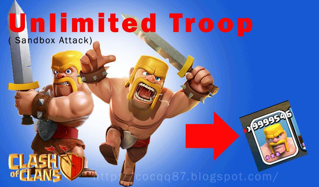 CLANS QQ87: Clash Of Clans Trik Unlimited Troop ( 9999999 )