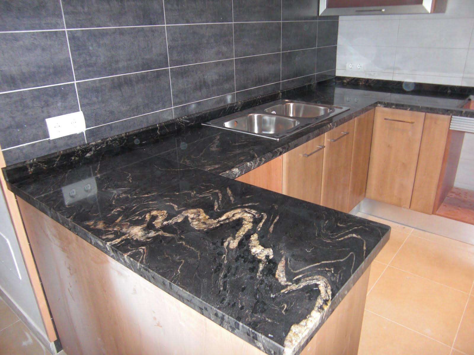 Piedralia global s l encimera de cocina en granito - Encimeras de granito colores ...
