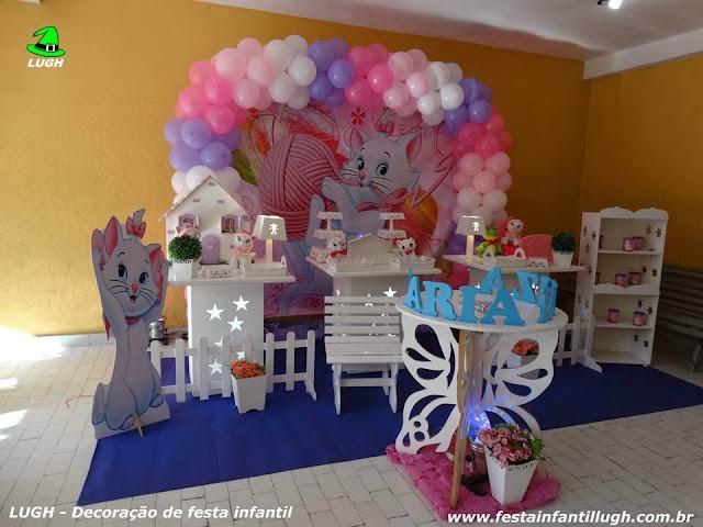 Tema da Gata Marie para decoração de festa de aniversário infantil de meninas - festa infantil Gata Marie - Barra RJ