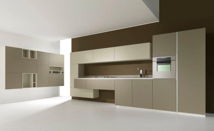 Cocinas de colores modernas cocina moderna y delicada - Cocinas azul tierra ...