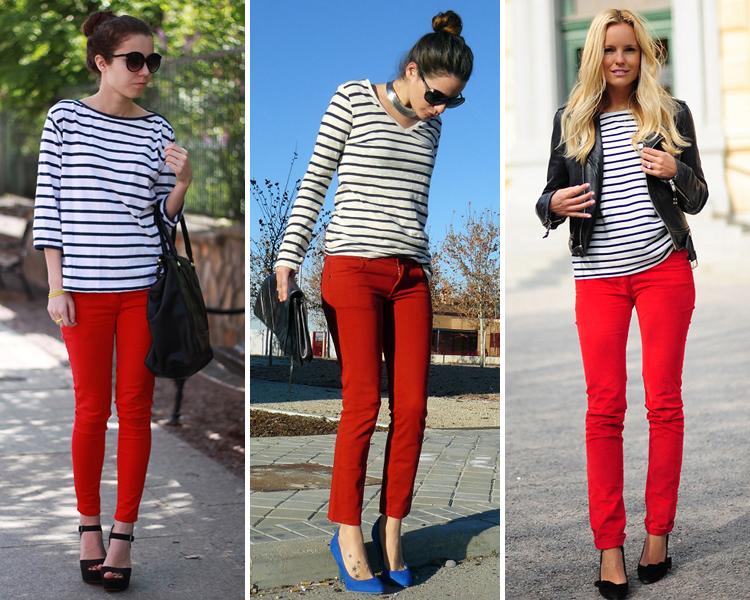 Vision del mundo fashion como combinar pantalones rojos for Colores para combinar con rosa