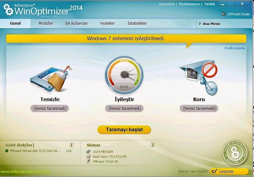 Ashampoo WinOptimizer 2014 Full Türkçe İndir