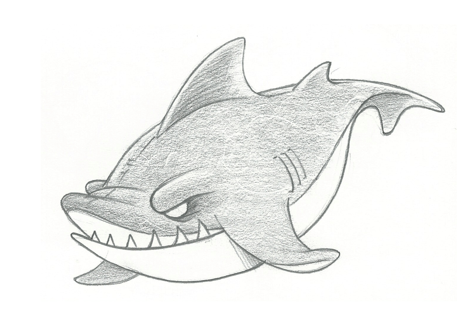 Gallery For gt Cool Shark Drawing In Pencil