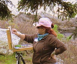 Nita Painting Plein Air