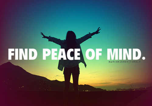 Peace of Mind Quotes Tumblr a Mind at Peace a Mind