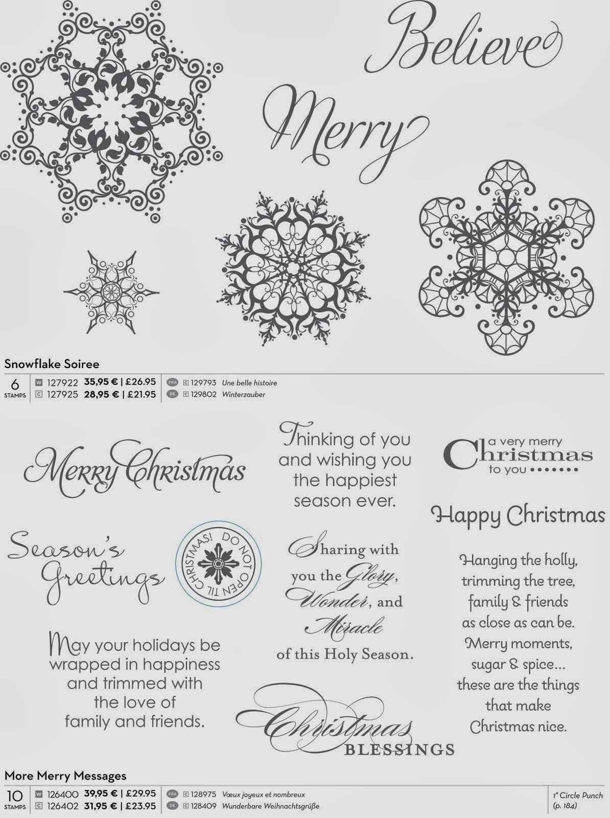 Snowflake Soirree en More Merry Messages