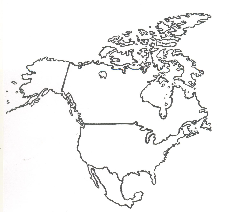 Mapa Mudo De America Anglosajona