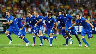 Hasil Akhir Skor Inggris vs Italia Euro 2012