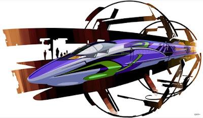 kereta peluru neon genesis evangelion