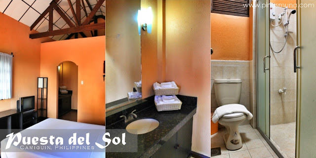 Room Interior and Shower Room of Puesta del Sol Camiguin