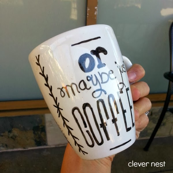 99 cent store mug and a regular sharpie! cute Valentine's gift idea #coffee #clever_nest