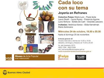 Joyeria en refranes en el Museo Arte Popular José Hernandez