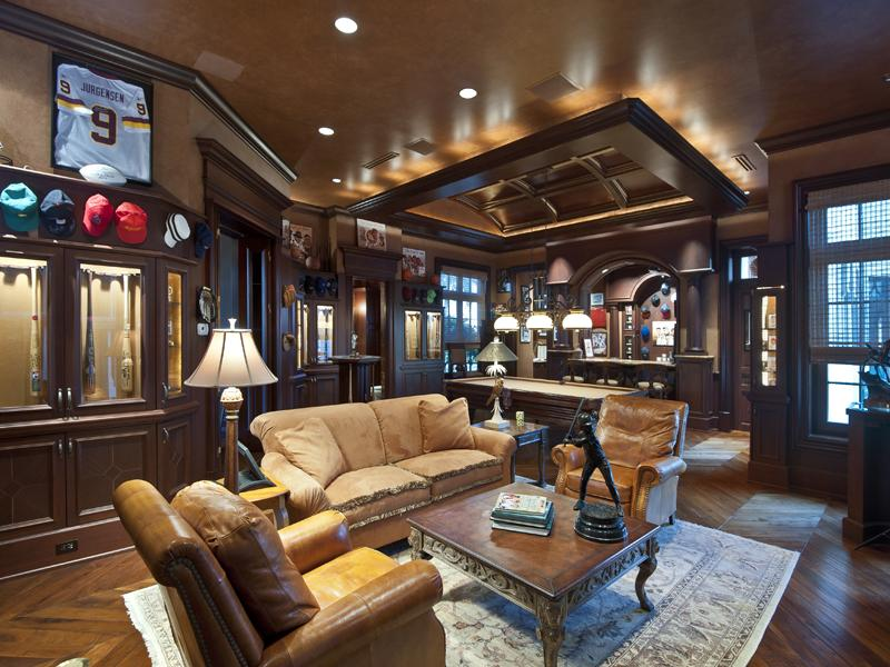 Classic Man Cave Furniture : Mansion at bay colony golf club