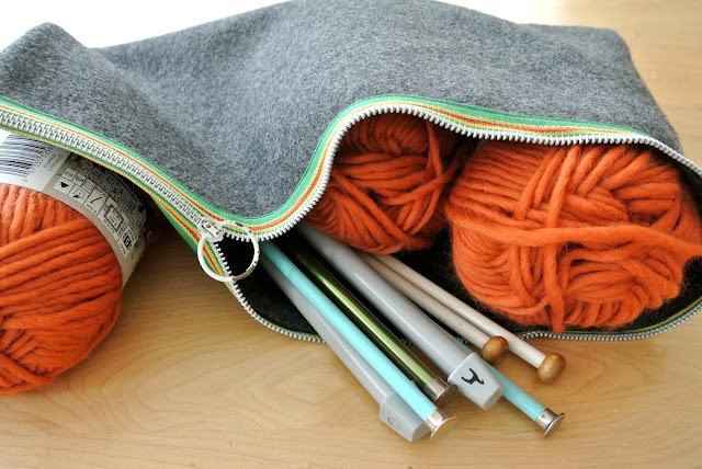 Zippered Project Pouch