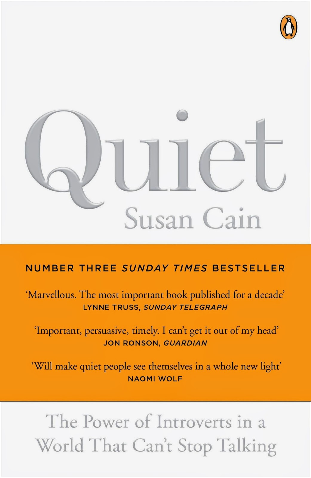 susan cains quiet Susan cain quiet: the power of introverts in a world that  cain's meticulously researched book provides  cain begins quiet with a thoughtful story.